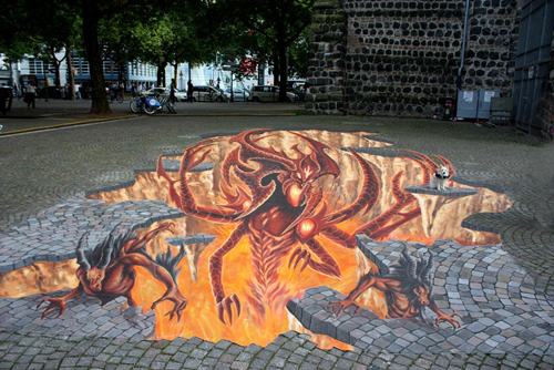Diablo 3 street art (Manfred Stader)