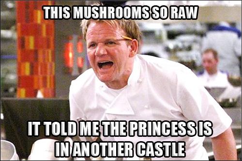 Gordon Ramsay Angry Kitchen RAW MUSHROOM PRINCESS