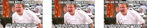 Gordon Ramsay Angry Kitchen meme samp