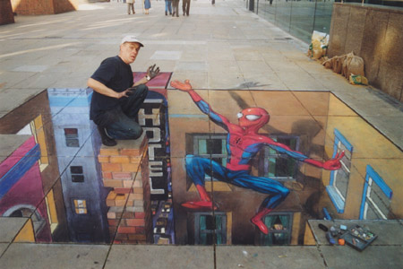 Spiderman (Julian Beever)
