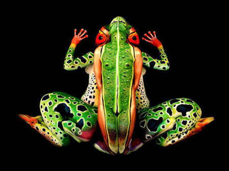 hidden image (frog people body)