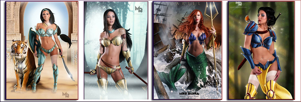 Sexy Disney Princess Warriors