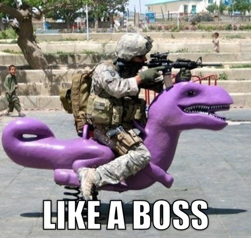 like a boss dinosaur meme