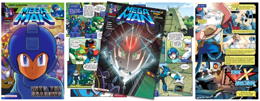 Mega Man X Makes His Comic Debut