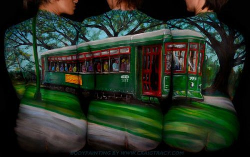 body paint illusion 05