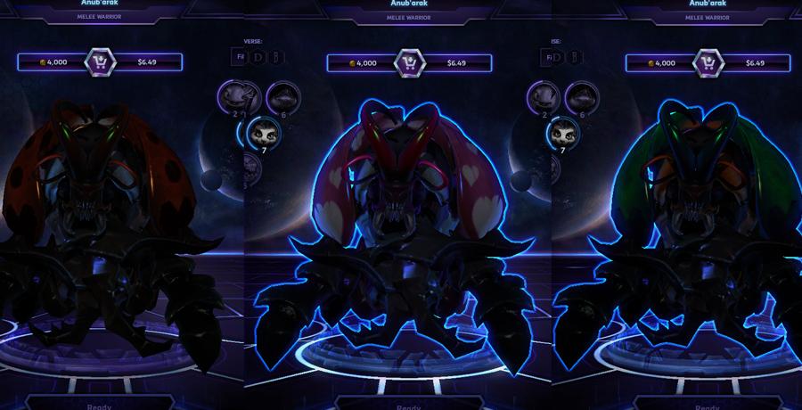 heroes storm Anubarak skins love bug