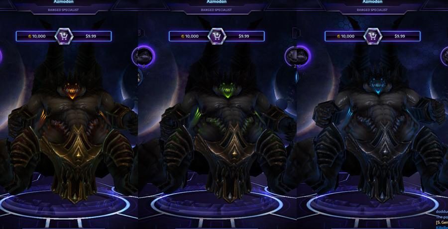 heroes storm Azmodan skins default