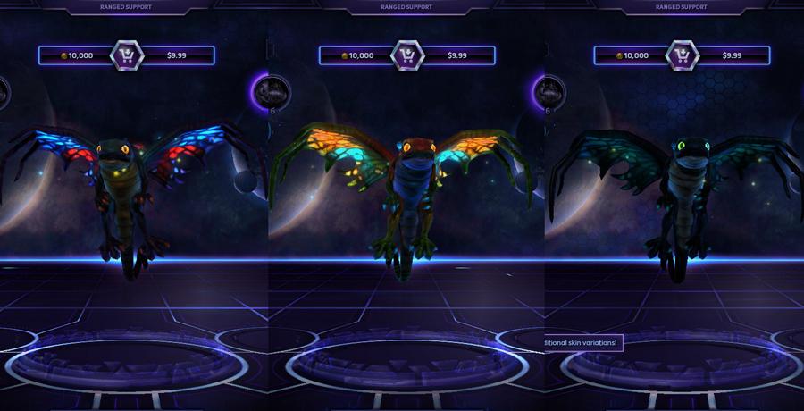 heroes storm Brightwing skins default