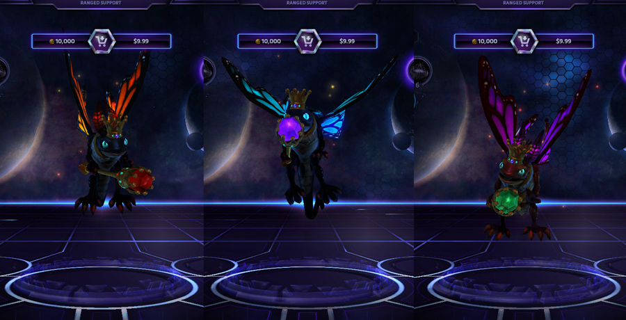 heroes storm Brightwing skins monarch