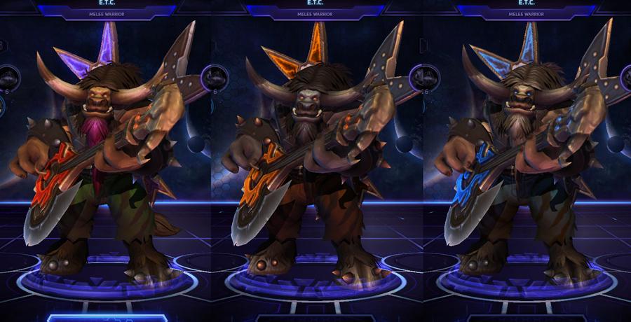 heroes storm ETC skins default