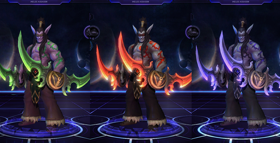 heroes storm Illidan skins default