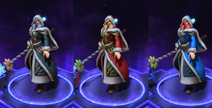 heroes storm Jaina skins winter veil