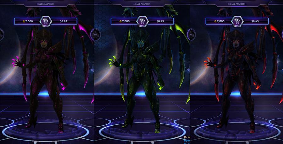heroes storm Kerrigan skins master