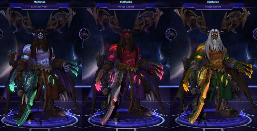 heroes storm Malfurion skins betrayer