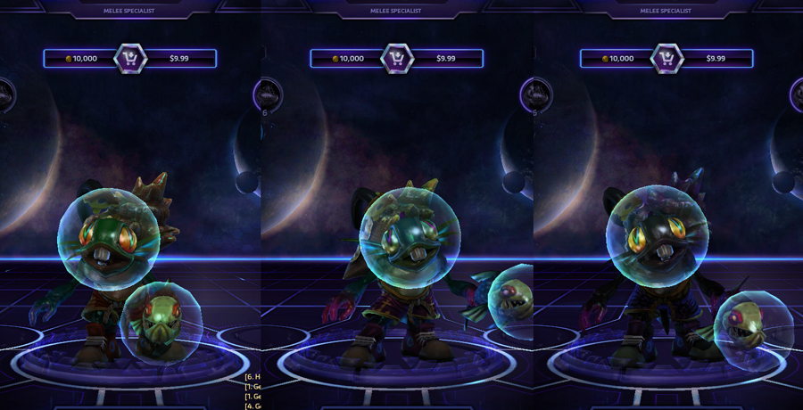 heroes storm Murky skins master