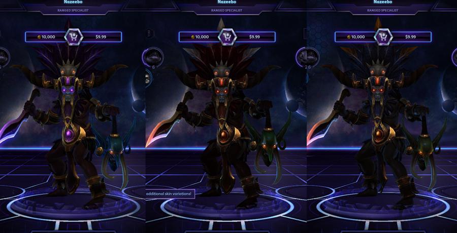 heroes storm Nazeebo skins default