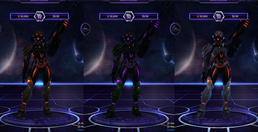 heroes storm Nova skins spectre
