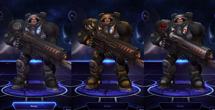 heroes storm Raynor skins default