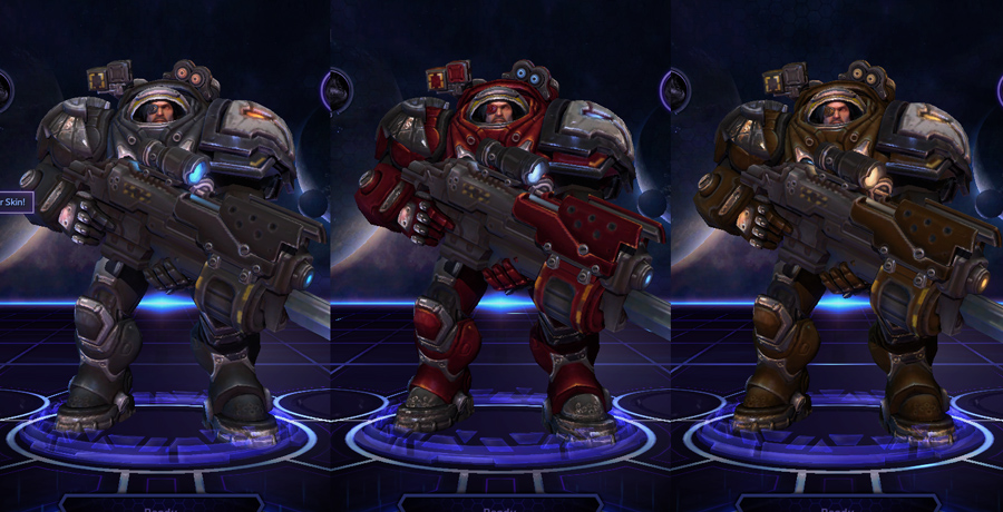 heroes storm Raynor skins master