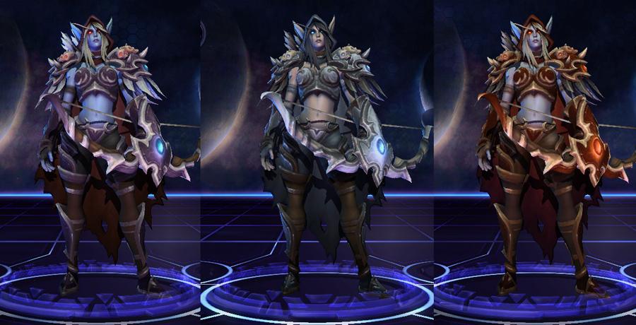heroes storm Sylvanas skins default