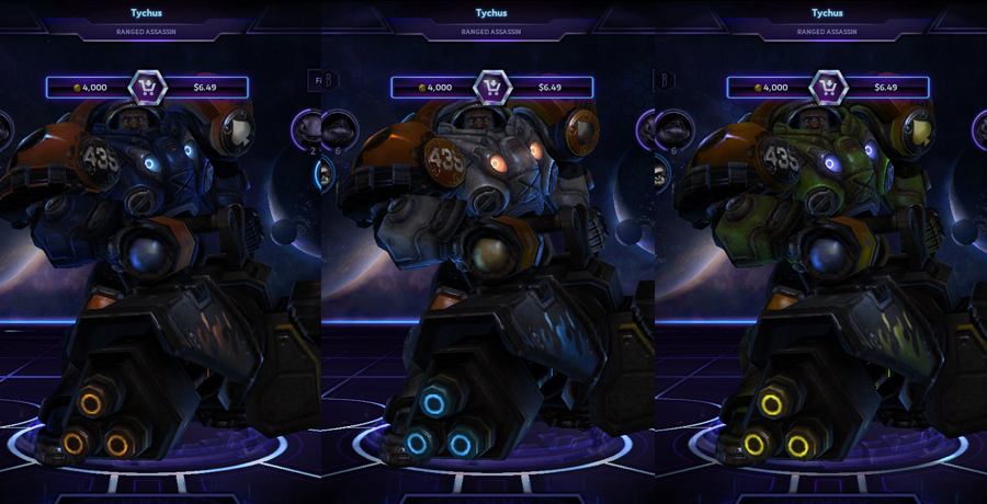 heroes storm Tychus skins master