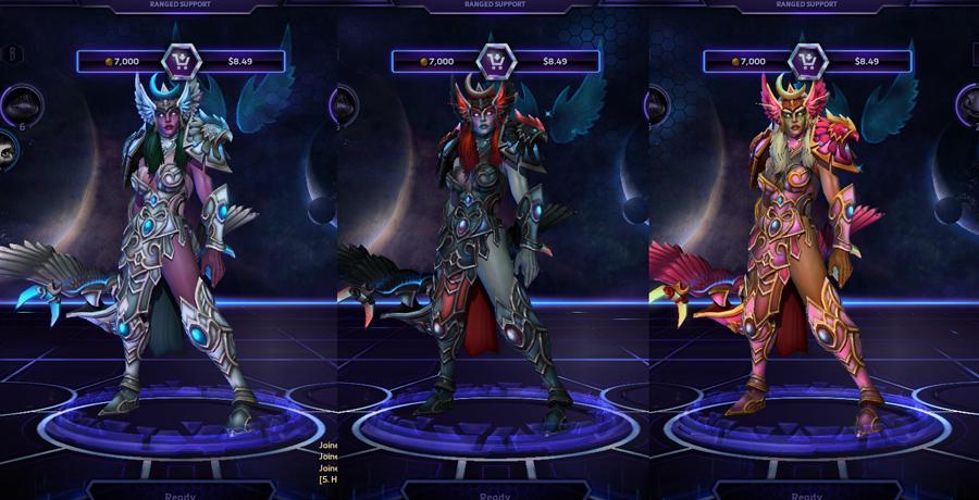 heroes storm Tyrande skins master
