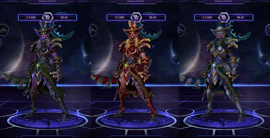 heroes storm Tyrande skins warden