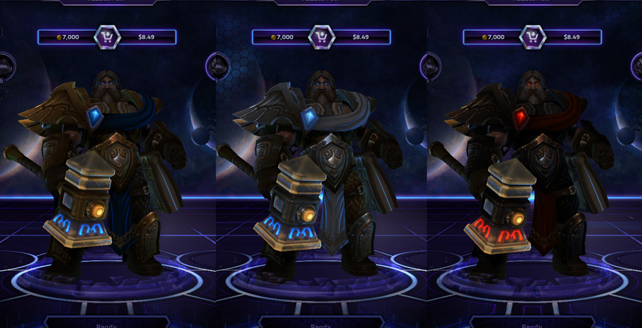 heroes storm Uther skins default