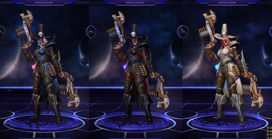 heroes storm Valla skins vampire slayer