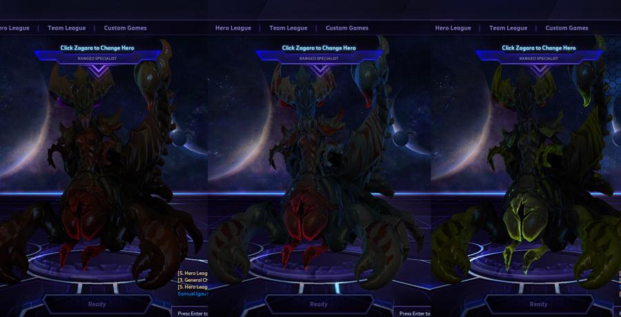 heroes storm Zagara skins insectoid