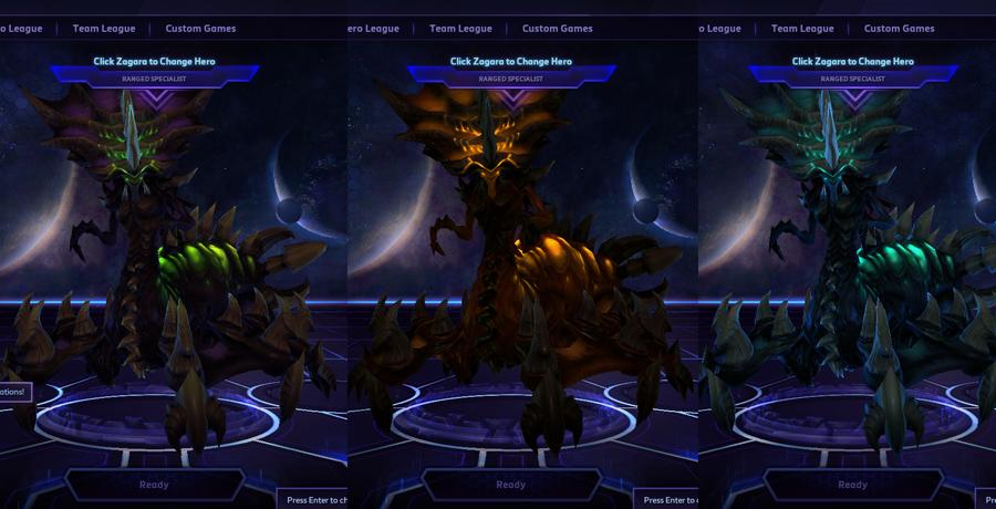 heroes storm Zagara skins master