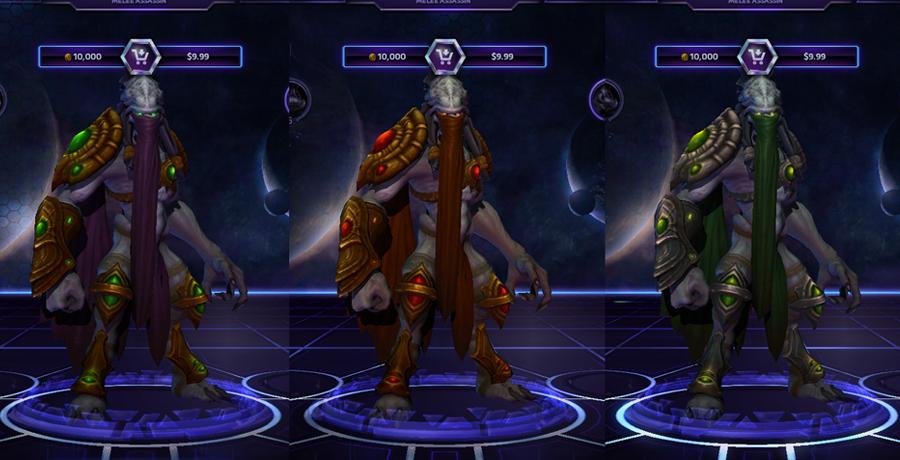 heroes storm Zeratul skins default