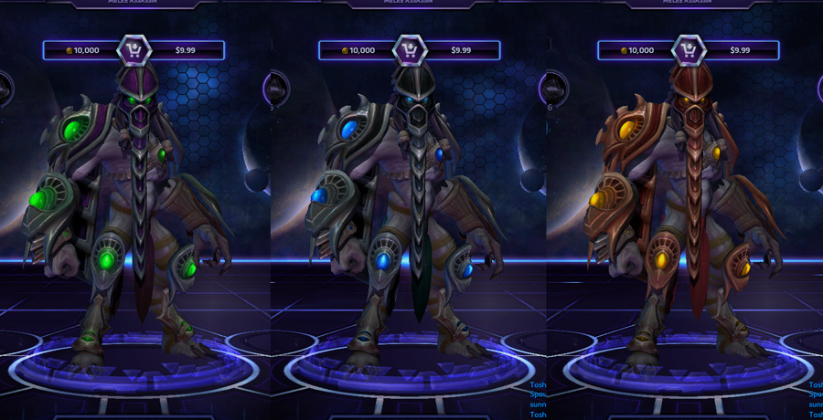 heroes storm Zeratul skins master