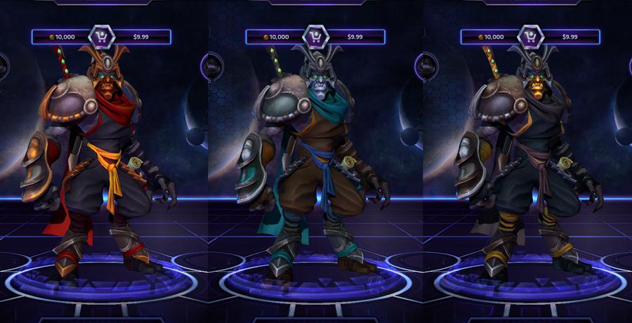 heroes storm Zeratul skins ronin