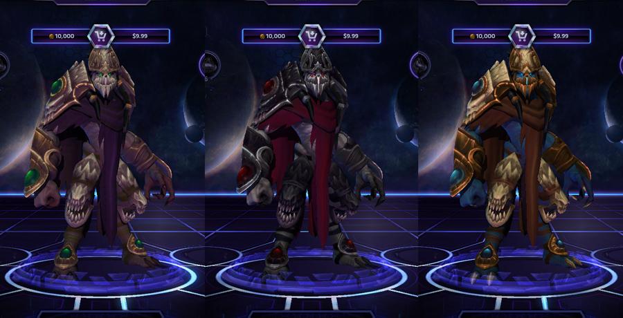 heroes storm Zeratul skins zerg hunter