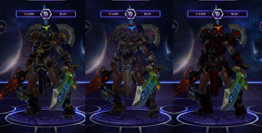 heroes storm sonya skins wrath