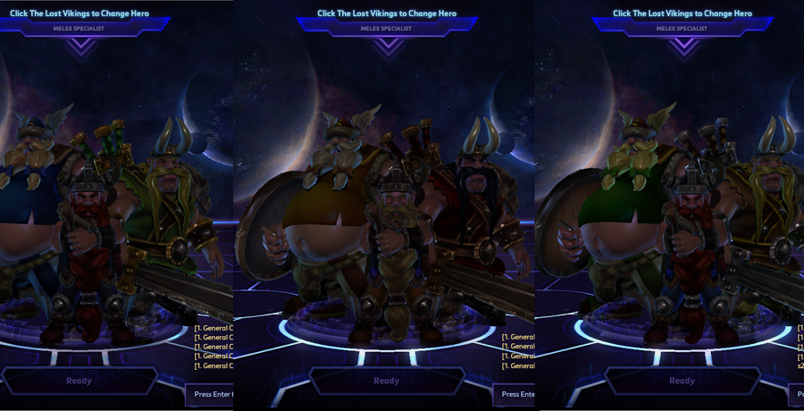 heroes storm the lost vikings skins default