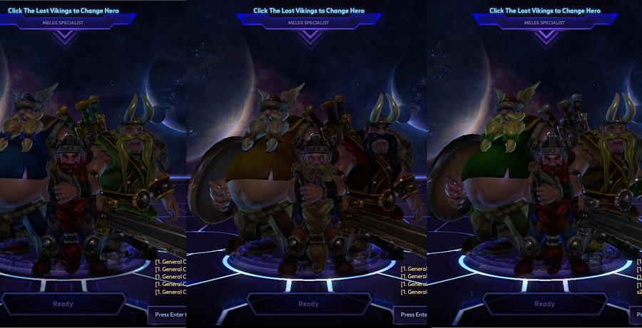 heroes storm the lost vikings skins default