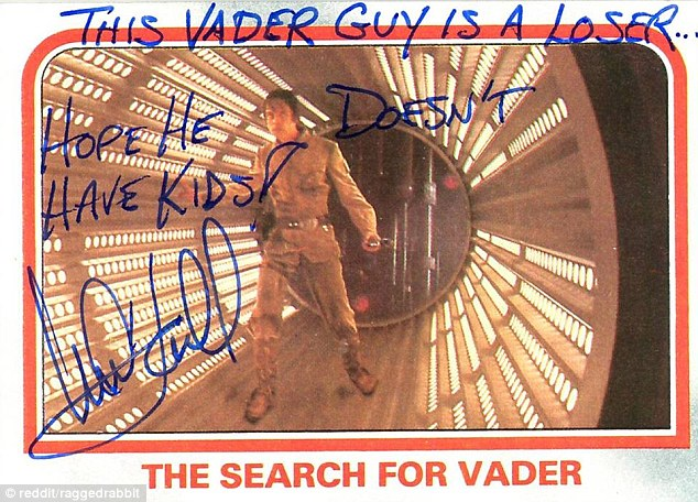 Mark Hamill Star Wars Trading Card Joke 003 Vader Loser Kids