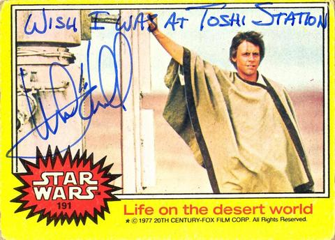 Mark Hamill Star Wars Trading Card Joke 007 Wish Toshi Station