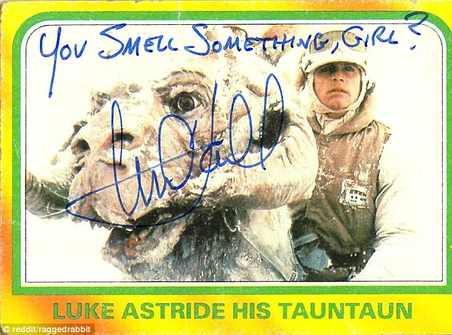 Mark Hamill Star Wars Trading Card Joke 010 Smell Something Girl