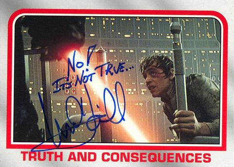 Mark Hamill Star Wars Trading Card Joke 020 No Its Not True