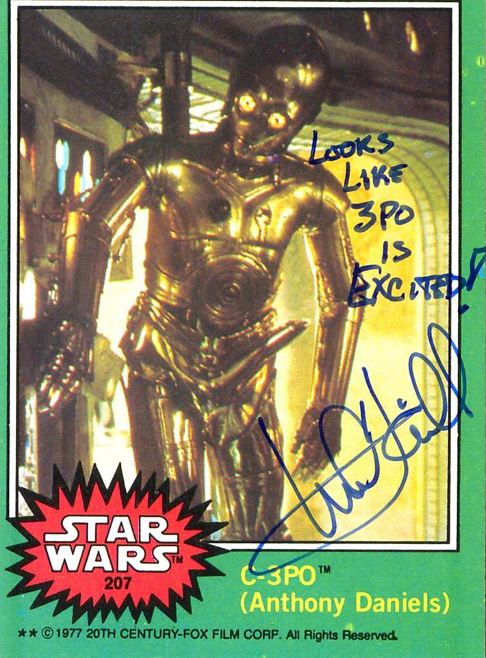 Mark Hamill Star Wars Trading Card Joke 022 Looks Like 3PO Excited