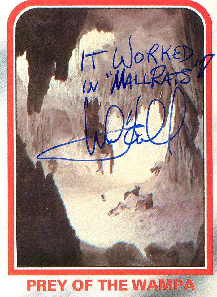 Mark Hamill Star Wars Trading Card Joke 023 Worked In Mallrats