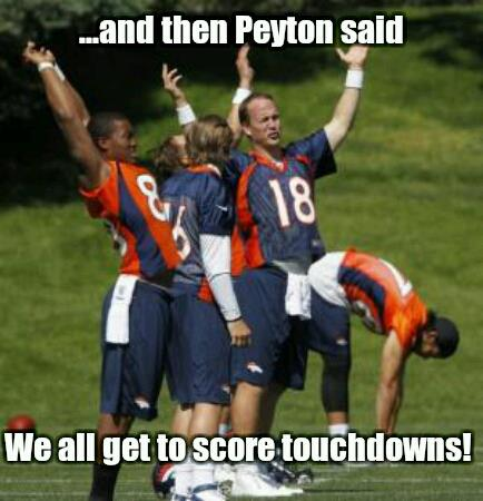 football meme 005 peyton said score touchdowns