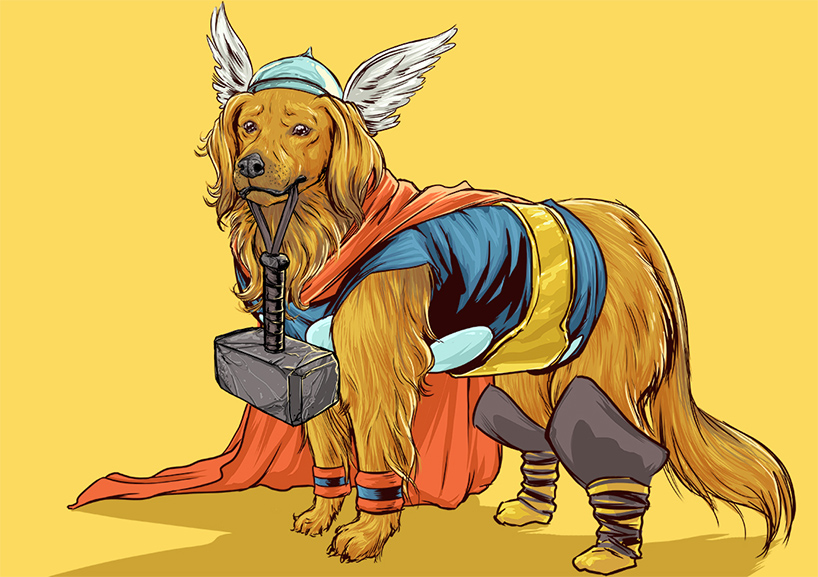 josh lynch marvel dogs 013 thor