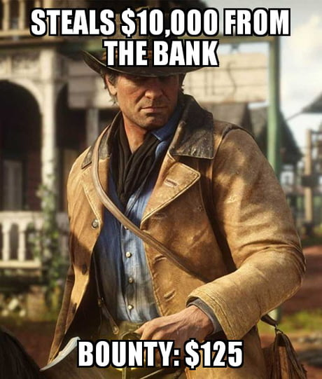 Red Dead Redemption 2 Memes 015 Video Game Logic Bounty Comics And
