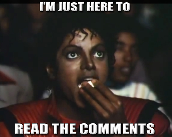 comment reply 012 im just here to read the comments michael jackson
