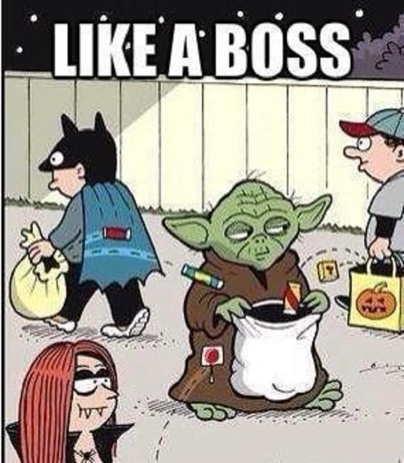 Boss halloween meme
