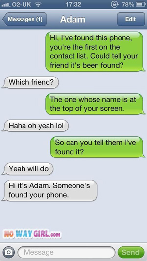 text message meme 030 someone found your phone - Comics And